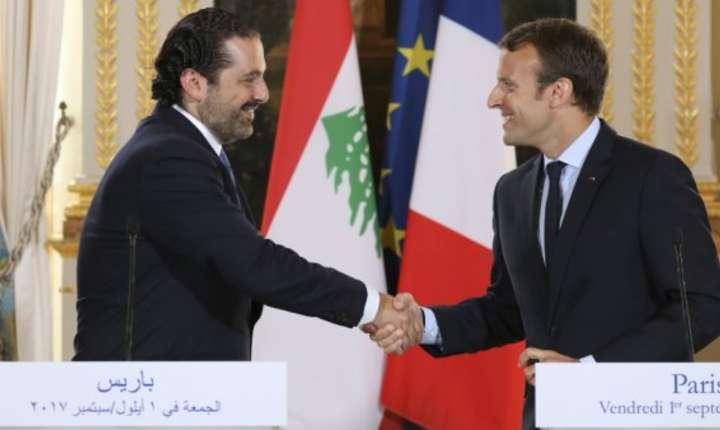 Primul ministru libanez Saad Hariri primit la Elysée de presedintele Emmanuel Macron la începutul lunii septembrie