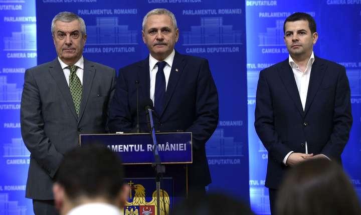 Călin Popescu Tăriceanu, Liviu Dragnea şi Daniel Constantin (Sursa foto: www.psd.ro)