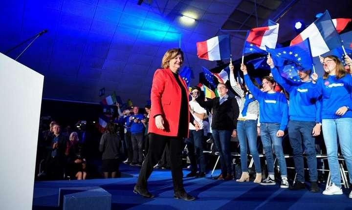 Nathalie Loiseau, lidera listei LREM pentru europene, în miting la Caen, 6 mai 2019