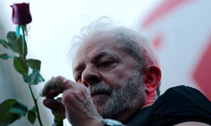 Luiz Inacio Lula da Silva (Partidul Muncitorilor) pe 24 ianuarie 2018 la Sao Paolo