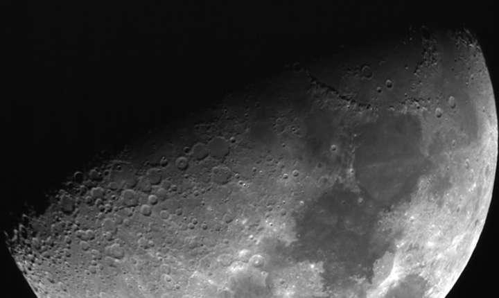 Luna, văzută prin noul telescop din Spania (Foto: Universität Würzburg)