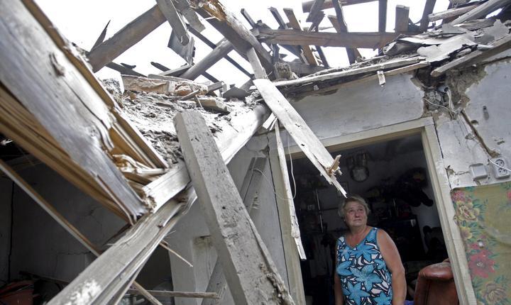 Multe case din Donetk au fost afectate de bombardamentele din ultimele săptămâni