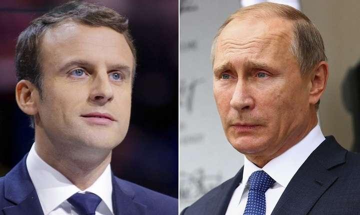 Putin şi Macron au discutat recent despre crizele din Ucraina şi Siria