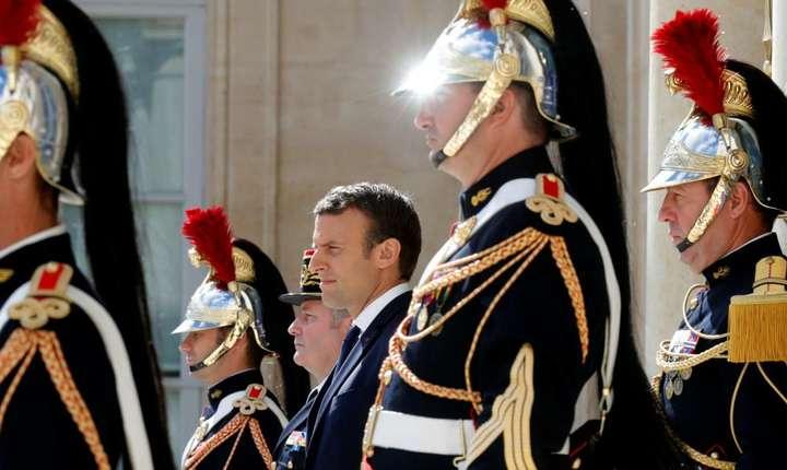 Presedintele Emmanuel Macron, la Palatul Elysée, pe 12 iunie 2017