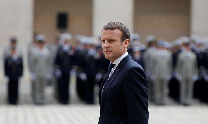 Presedintele francez Emmanuel Macron la Invalizi pe 30 iunie 2017
