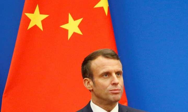 Presedintele Frantei Emmanuel Macron la Shanghai, 6 noiembrie 2019