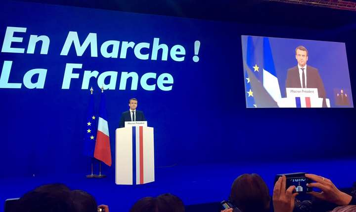 Emmanuel Macron - discurs dupa primul tur al alegerilor prezidentiale