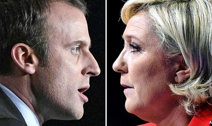 Emmanuel Macron și Marine Le Pen