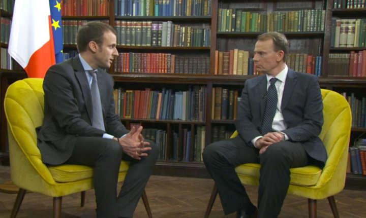 Emmanuel Macron intervievat de Andrew Marr