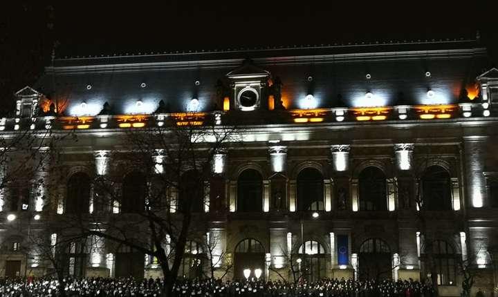 Protest al magistraților pe treptele Palatului Justiției din București (Sursa foto: Facebook/Forumul Judecătorilor)
