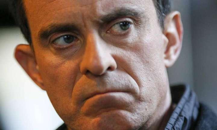 Manuel Valls, pe 17 ianuarie 2017 la Villeurbanne