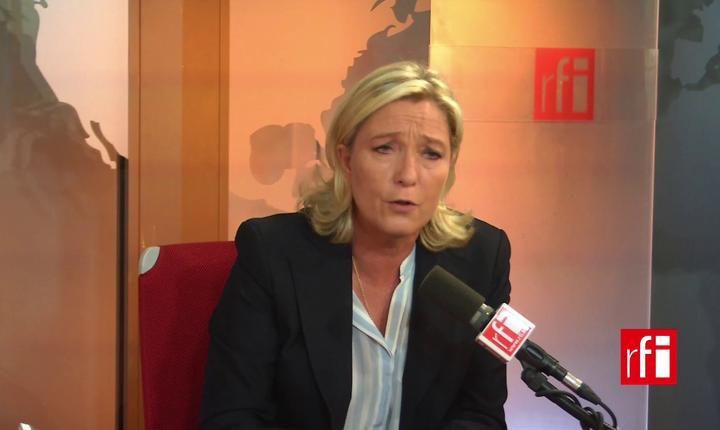 Marine Le Pen, lidera Frontului national, partidul extremei drepte
