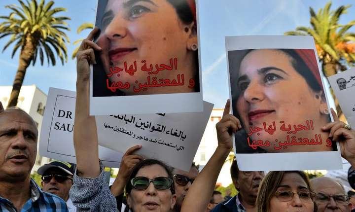 """Manifestatii în favoarea lui Hajar Raissouni, jurnalistà condamnatà la un an închisoare pentru """"avort ilegal"""""""