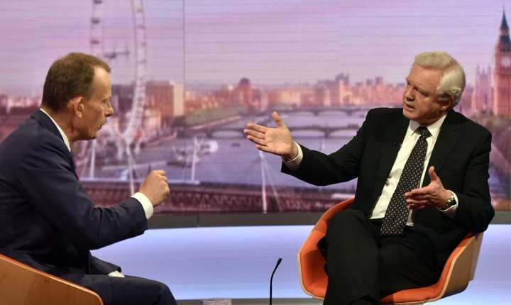 David Davis (dreapta) intervievat la BBC de Andrew Marr