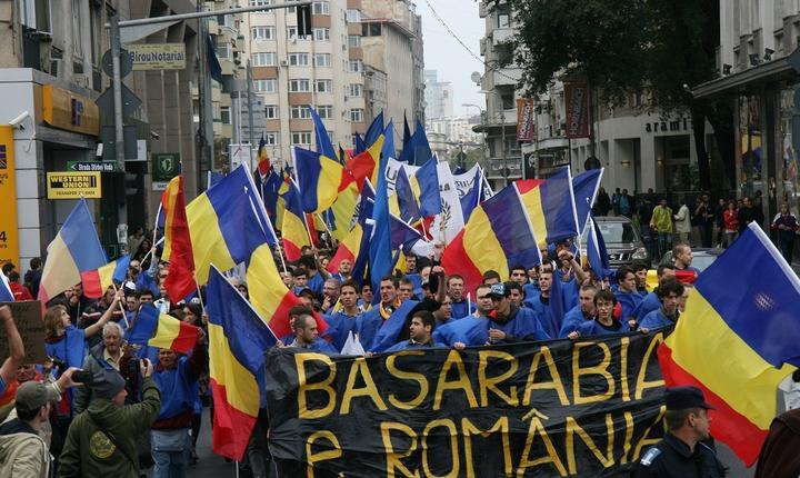 Sursa: InfoPrut. Un marş mai vechi al unioniştilor la Bucureşti.