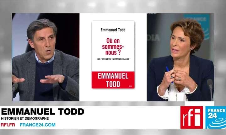 Emmanuel Todd invitat la o emisiune la RFI de Marlène Schiappa.