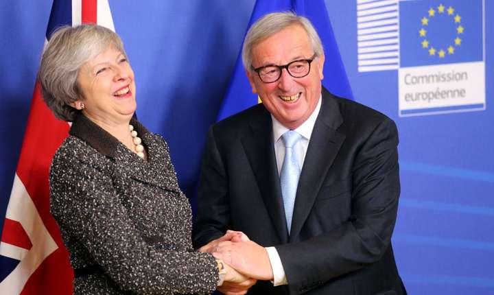 Theresa May cu Jean Claude Juncker