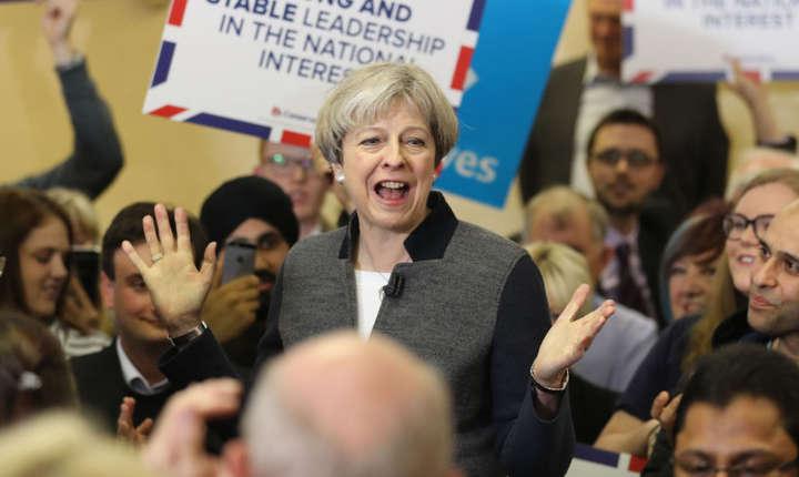 Theresa May în campanie în Țara Galilor