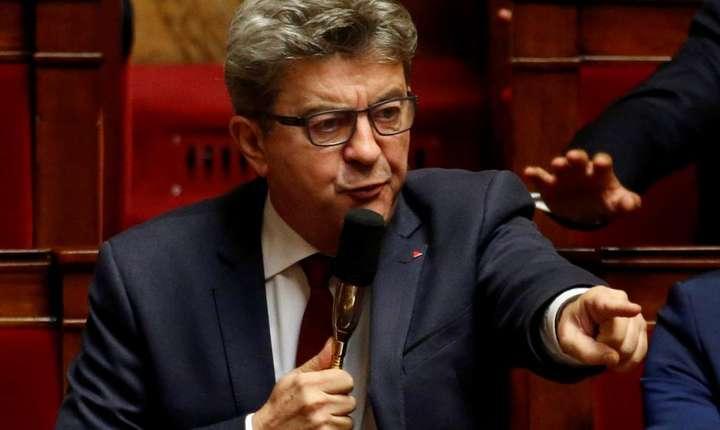 """Jean-Luc Mélenchon, liderul miscàrii """"Franta nesupusà"""", în Parlamentul francez pe 16 octombrie 2018"""