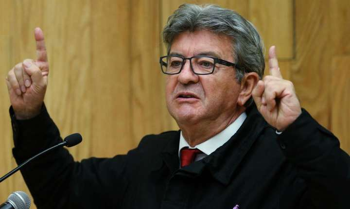 Jean-Luc Mélenchon la universitatea din Mexico pe 9 septembrie 2019.