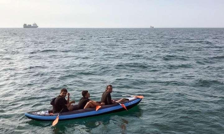 Migranti in apropiere de Calais, încearca sa traverseze Canalul Mânecii pentru a ajunge în Anglia, august 2018.