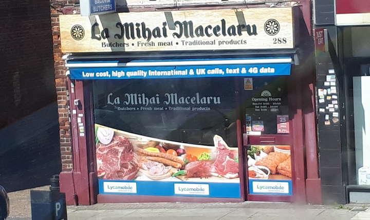 Măcelarie românească din Londra