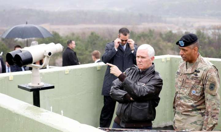 Paju, Coreea de Sud - vizita lui Mike Pence din 17 aprilie