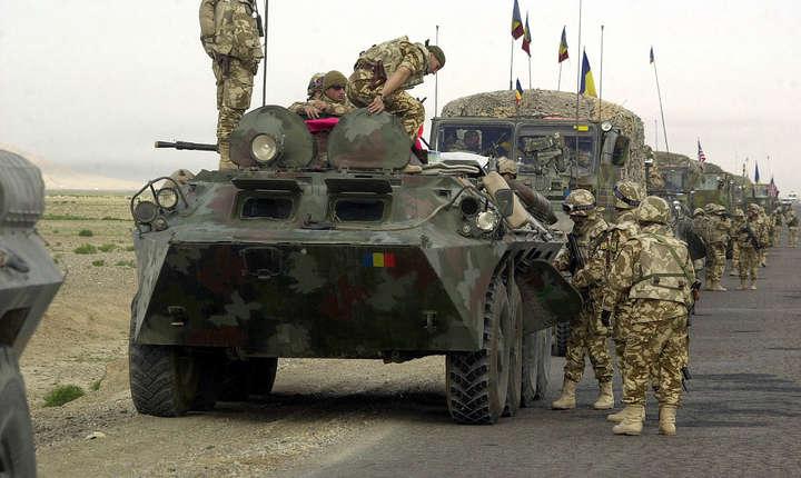 Militarii români fac parte din Batalionul de Infanterie şi Protecţie a Forţei din Iaşi
