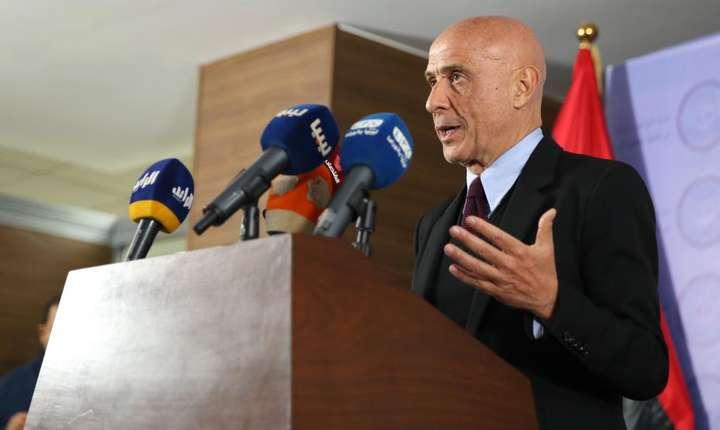 Ministrul italian de Interne, Marco Minniti, în timpul unei conferinte de presa la Tripoli, Libia, 9 ianuarie 2017. Italia mizeaza pe Libia pentru a controla afluxul refugiatilor care doresc sa ajunga in Europa.