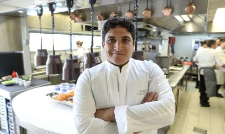 """Cheful argentinian Mauro Colagreco în restaurantul pe care l-a creat la Menton, """"Mirazur"""""""