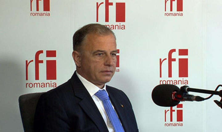 Mircea Geoană, în studioul RFI (Foto: arhivă RFI)