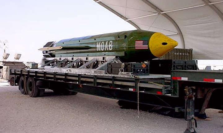 Este vorba de cea mai mare bombă non-nucleară lansată vreodată de Statele Unite