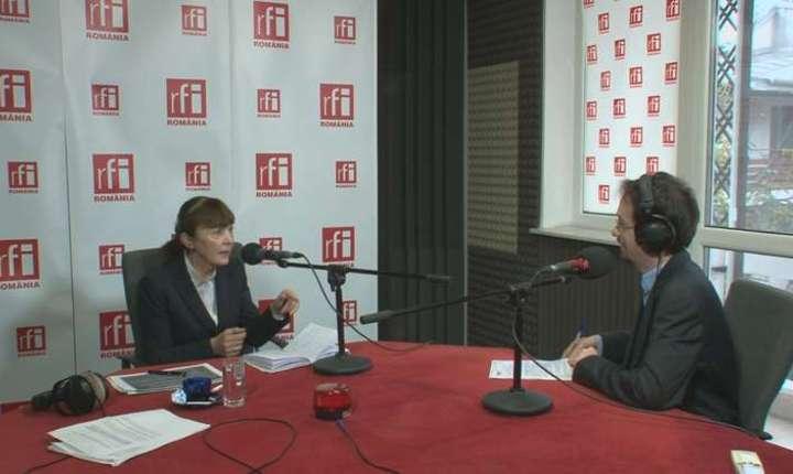 Monica Macovei, în studioul RFI (arhivă)