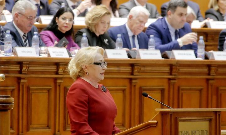 Viorica Dăncilă critică textul moţiunii de cenzură (Sursa foto: psd.ro-arhivă)