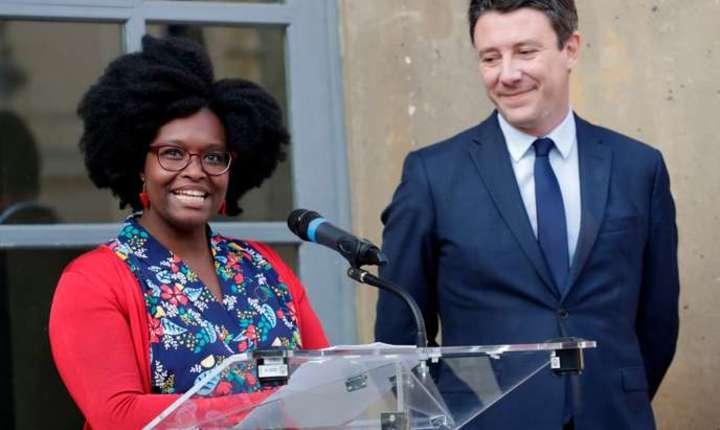 Sibeth Ndiaye, consiliera de presà a presedintelui Emmanuel Macron, a fost promovatà purtàtoare de cuvânt a guvernului francez, 1 aprilie 2019