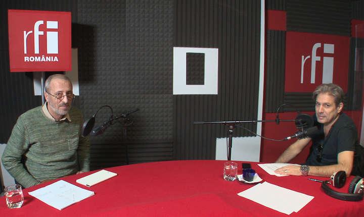 Liviu Avram și Nicolas Don in studioul RFI Romania