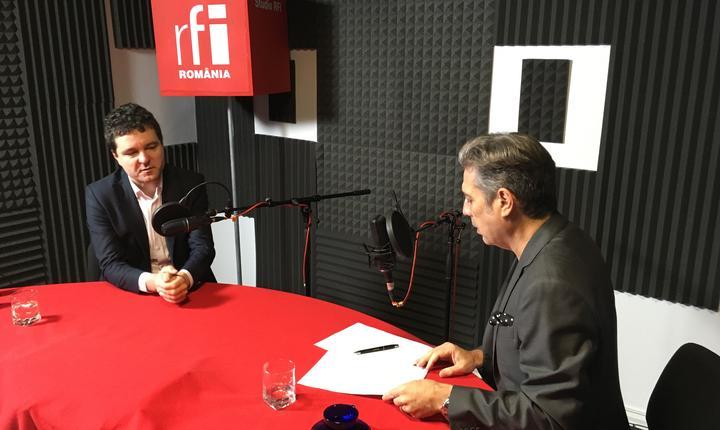 Nicușor Dan și Nicolas Don in studioul de inregistrari