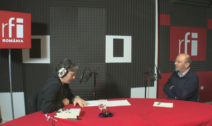 Nicolas Don și Sorin Antohi in studioul radio RFI