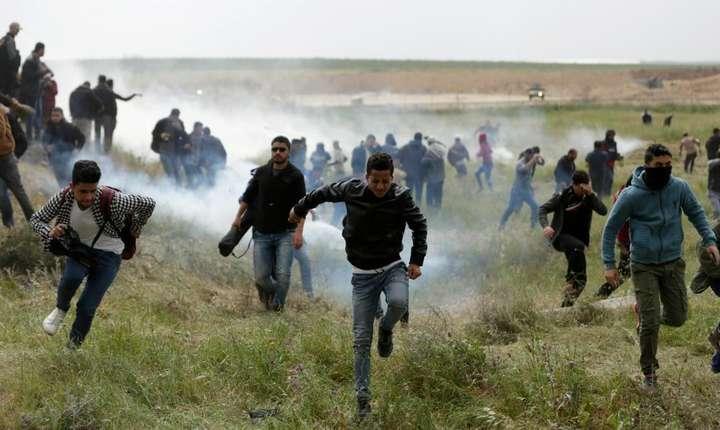 Violenţe între israelieni şi palestinieni, vineri, 30 martie 2018 (Foto: AFP/Mahmud Hams)