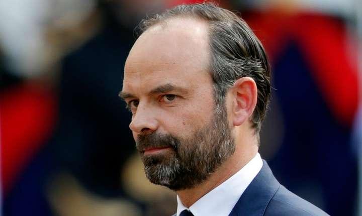 Noul premier al Frantei, Edouard Philippe, luni 15 mai la Matignon în timp ce era învestit
