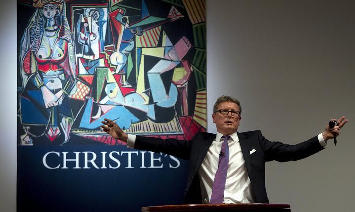 Imagine din timpul licitaţiei de la Casa Christie's din New York (Foto: Reuters/Carlo Allegri)