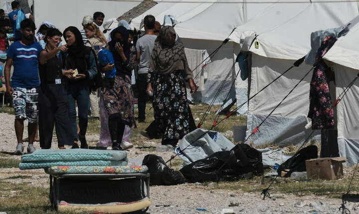 O tarabara de refugiati din nordul Greciei.