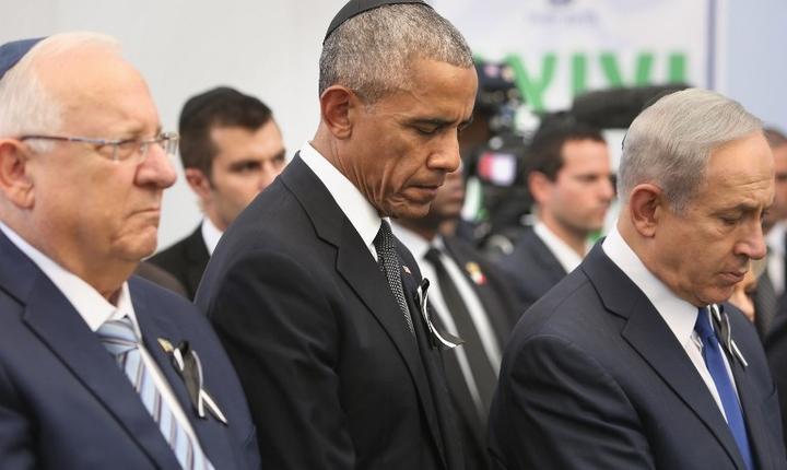 Barack Obama, la funeraliile lui Shimon Peres (Foto: AFP/Menahem Kahana)