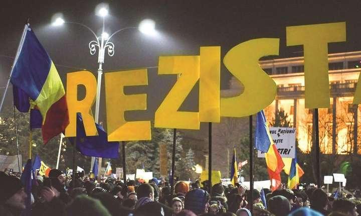Miting în Piaţa Victoriei-arhivă (Sursa foto: Facebook/Geeks for Democracy)