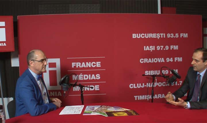 Sergiu Costache și Dan Dobre in studioul RFI Romania