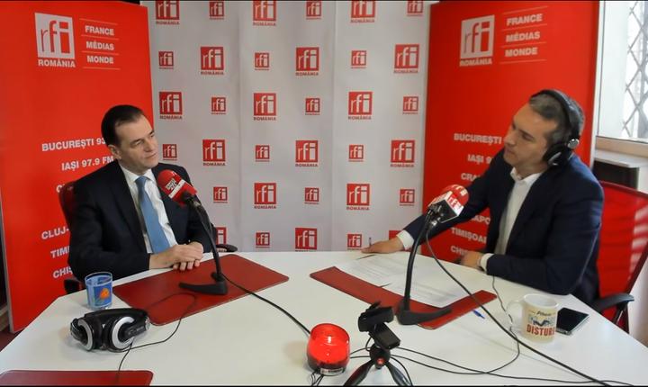 Ludovic Orban, în studioul RFI (arhivă)