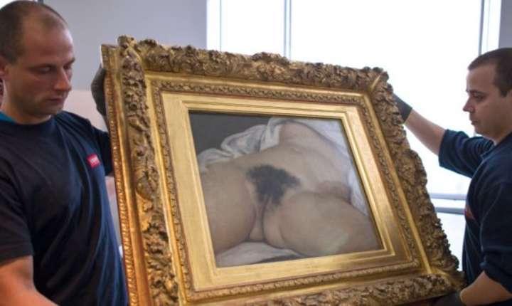 """Tabloul """"L'Origine du monde"""" al lui Gustave Courbet este din 1995 la Musée d'Orsay"""