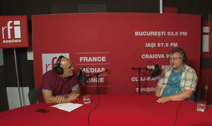 Ovidiu Nahoi si Armand Goşu in studioul RFI Romania