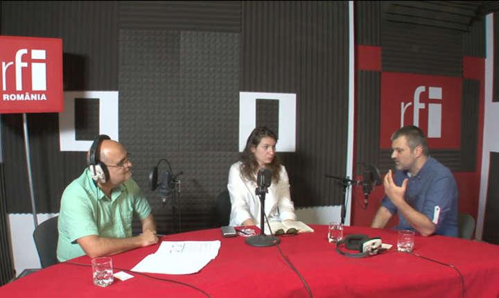 Ovidiu Nahoi, Irène Costelian şi Codru Vrabie la RFI Romania