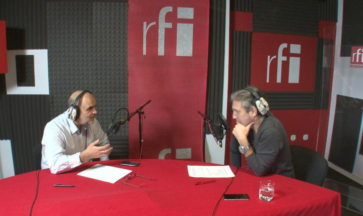 Ovidiu Nahoi şi Nicolas Don în studioul RFI România